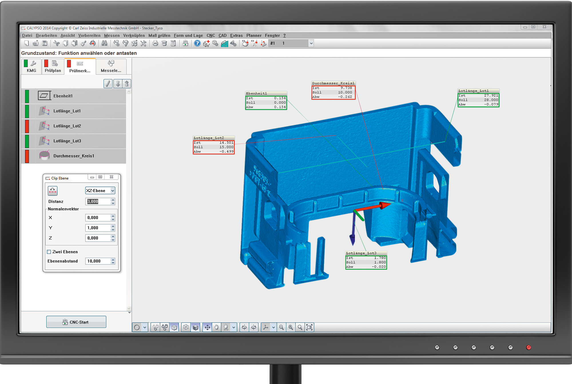 The 3D dimensional stability can be ideally inspected using ZEISS CALYPSO CT.